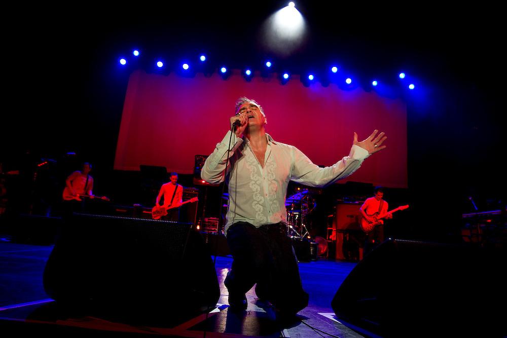 Belo Horizonte_MG, Brasil.<br /> <br /> O cantor Morrissey se apresenta no Chevrolet Hall, casa de espetaculo em Belo Horizonte, Minas Gerais.<br /> <br /> Morrissey concert in Chevrolet Hall in Belo Horizonte, Minas Gerais.<br /> <br /> Foto: MARCUS DESIMONI / NITRO