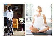 Pet, dog and yoga lifestyle photography.