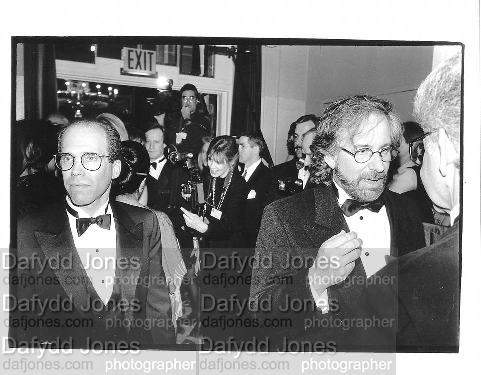 Jeffrey Katzenberg and Stephen Spielberg. Museum of Moving Image benefit. Waldorf Astoria. New York. 23 February 1995. © Copyright Photograph by Dafydd Jones 66 Stockwell Park Rd. London SW9 0DA Tel 020 7733 0108 www.dafjones.com