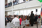Sharpstown HS student speaking at the Grand Opening of new school building.May 3, 2018.