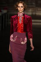 Vanessa Hegelmaier walks down runway for F2012 L'Wren Scott's collection in Mercedes Benz fashion week in New York on Feb 10, 2012 NYC