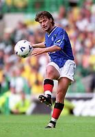 Tugay Kerimoglu (Rangers). Celtic 6:2 Rangers, Scottish Premier League, Celtic Park, Glasgow, Scotland, 27/8/2000. Credit Colorsport : Stuart MacFarlane.