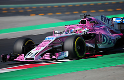 March 9, 2018 - Barcelona, Catalonia, Spain - the Force India of Esteban Ocon during the Formula 1 tests at the Barcelona-Catalunya Circuit, on 09th March 2018 in Barcelona, Spain. (Credit Image: © Joan Valls/NurPhoto via ZUMA Press)