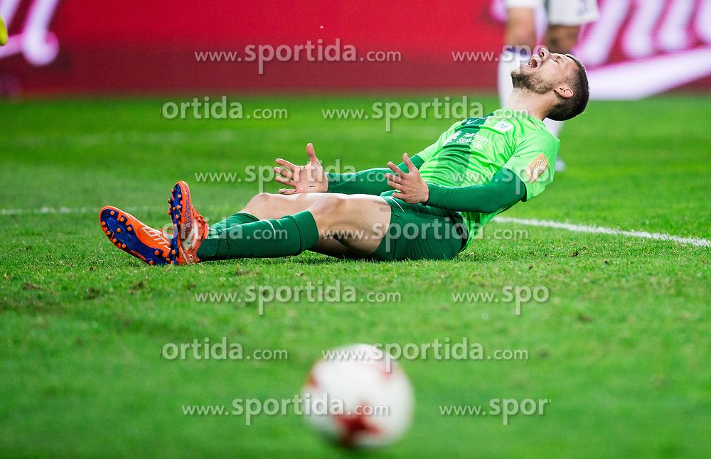 Kenan Bajric of NK Olimpija reacts during football match between NK Olimpija and NK Maribor in Round #31 of Prva liga Telekom Slovenije 2016/17, on April 29, 2017 in SRC Stozice, Ljubljana, Slovenia. Photo by Vid Ponikvar / Sportida