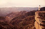 Copper Canyon. Tarahumara Indian Chief Julio watching sunrise.