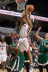 Virginia Cavaliers Forward Lyndra Littles (1) goes up for a shot against Charlotte.  The Virginia Cavaliers women's basketball team defeated The University of North Carolina - Charlotte 49ers 74-72 in the 2nd round of the Women's NIT at John Paul Jones Arena in Charlottesville, VA on March 19, 2007.