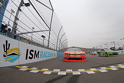 March 10, 2018 - Avondale, Arizona, United States of America - March 10, 2018 - Avondale, Arizona, USA: Justin Allgaier (7) and Brad Keselowski (22) pace the field before the start of the DC Solar 200 at ISM Raceway in Avondale, Arizona. (Credit Image: © Chris Owens Asp Inc/ASP via ZUMA Wire)