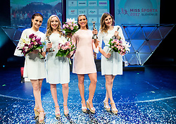 3rd Runner-Up Naja Dolenc, 1st Runner-Up Lana Pregelj, Miss sports Manca Šepetavc and 2nd Runner-Up Lara Deu celebrate during Miss sports event, on April 22, 2017 in Cankarjev dom, Ljubljana, Slovenia. Photo by Vid Ponikvar / Sportida