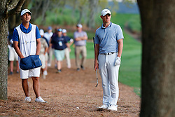 March 15, 2019 - Ponte Vedra Beach, FL, U.S. - PONTE VEDRA BEACH, FL - MARCH 15: Rory McIlroy of Northern Ireland addresses a shot on the 18th hole during the second round of THE PLAYERS Championship on March 15, 2019 on the Stadium Course at TPC Sawgrass in Ponte Vedra Beach, Fl.  (Photo by David Rosenblum/Icon Sportswire) (Credit Image: © David Rosenblum/Icon SMI via ZUMA Press)