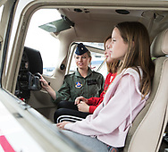 Girl Scouts attended the day at Girls Can Fly  at Deer Valley airport on March 10, 2018.  Various members of the Phoenix 99s staged the event to introduce girls into general aviation and their opportunities.