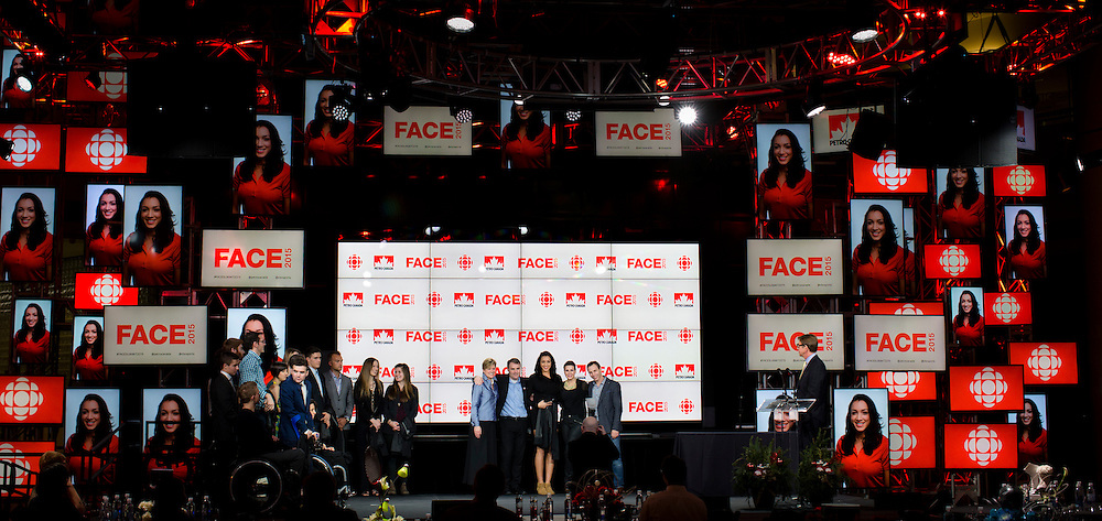 Petro Canada Face event CBC building Toronto, Ontario December, 2015.