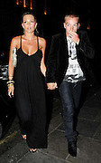 15.JUNE.2009.LONDON<br /> <br /> DANIELLE LLOYD AND HER FOOTBALLER BOYFRIEND JAMIE O'HARA STEP OUT FOR THE FIRST TIME IN PUBLIC SINCE HER INJURY'S SUSTAINED TWO WEEKS AGO AFTER A FIGHT AT CRYSTAL NIGHTCLUB WHERE DANIELLE GOT BADLEY INJURED BY GOING FOR DINNER AT NOBU RESTAURANT, BERKLEY SQUARE.<br /> <br /> <br /> BYLINE MUST READ EDBIMAGEARCHIVE.COM<br /> <br /> *THIS IMAGE IS STRICTLY FOR UK NEWSPAPERS &amp; MAGAZINES ONLY*<br /> *FOR WORLDWIDE SALES OR WEB USE PLEASE CONTACT EDBIMAGEARCHIVE - 0208 954 5968*