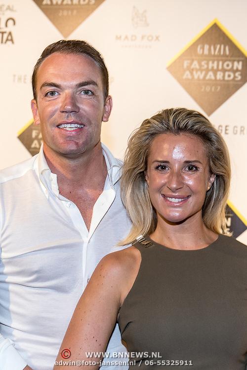 NLD/Amsterdam/20170829 - Grazia Fashion Awards 2017, Robert Doornbos en partner Chantal Bles