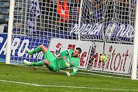 But Bastia / Nicolas DOUCHEZ - 10.01.2015 - Bastia / Paris Saint Germain - 20e journee Ligue 1<br />Photo : Michel Maestracci / Icon Sport