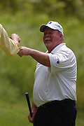 Jun 26, 2006; Gaylord MI; USA; Craig Stadler smiles after canceling out Fred Couples' skin on the fifth hole during the final round of the ING Par-3 Shootout at Treetops Resort in Gaylord Michigan.