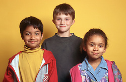 Multiracial group of children,