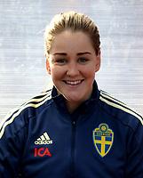 International Women's Friendly Matchs 2019 / <br /> Womens's Algarve Cup Tournament 2019 - <br /> Portugal v Sweden 2-1 ( Municipal Stadium - Albufeira,Portugal ) - <br /> Mia Carlsson of Sweden