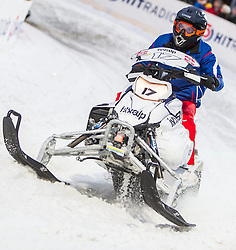 07.12.2014, Saalbach Hinterglemm, AUT, Snow Mobile, im Bild Jean- Eric Vergne (FRA) Scuderia Toro Rosso // during the Snow Mobile Event at Saalbach Hinterglemm, Austria on 2014/12/07. EXPA Pictures © 2014, PhotoCredit: EXPA/ JFK