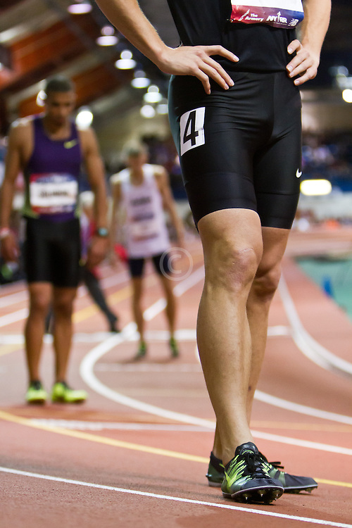 Millrose Games indoor track and field: mens 600 meters, Nick Symmonds, OTC Elite, Nike spikes