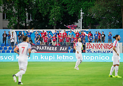 Supporters of Panionios during 2nd Leg football match between ND Gorica (SLO) and Panionios GSS (GRE) in 2nd Qualifying Round of UEFA Europa League 2017/18, on July 20, 2017 in Nova Gorica, Slovenia. Photo by Vid Ponikvar / Sportida