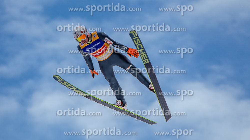 11.01.2014, Kulm, Bad Mitterndorf, AUT, FIS Ski Flug Weltcup, Bewerb, im Bild Kamil Stoch (POL) // Kamil Stoch (POL) during the FIS Ski Flying World Cup at the Kulm, Bad Mitterndorf, Austria on <br /> 2014/01/11, EXPA Pictures &copy; 2014, PhotoCredit: EXPA/ JFK