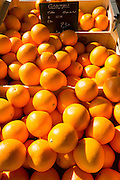 Oranges for sale at food market in France