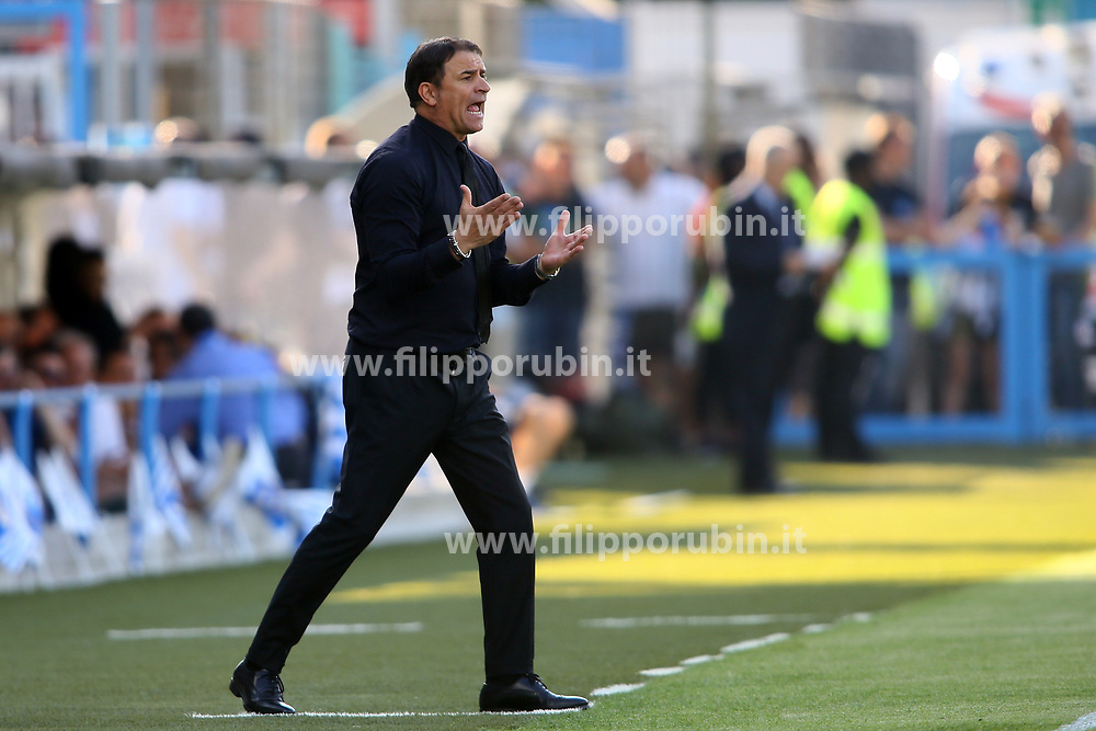"Foto LaPresse/Filippo Rubin<br /> 20/05/2018 Ferrara (Italia)<br /> Sport Calcio<br /> Spal - Sampdoria - Campionato di calcio Serie A 2017/2018 - Stadio ""Paolo Mazza""<br /> Nella foto: LEONARDO SEMPLICI (ALLENATORE SPAL)<br /> <br /> Photo LaPresse/Filippo Rubin<br /> May 20, 2018 Ferrara (Italy)<br /> Sport Soccer<br /> Spal vs Sampdoria - Italian Football Championship League A 2017/2018 - ""Paolo Mazza"" Stadium <br /> In the pic: LEONARDO SEMPLICI (SPAL'S TRAINER)"
