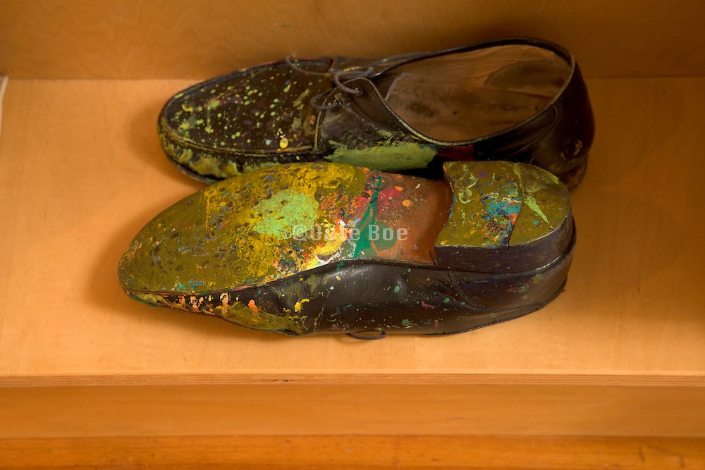 work shoes of children book illustrator and artist Eric Carle