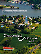 Aerial view of the Chesapeake City area published in the<br /> SAVE the BAY The Magazine of the Chesapeake Bay Foundation<br /> Fall 2010