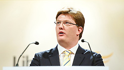 Danny Alexander MP, Chief Secretary to the Treasury makes his keynote speech during  the Liberal Democrats Annual Spring Conference in York, United Kingdom. Saturday, 8th March 2014. Picture by Elliot Franks / i-Images