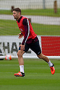 England defender Gary Cahill (Vice-captain) doing some runs during the England Training Session at St George's Park National Football Centre, Burton-Upon-Trent, United Kingdom on 7 October 2015. Photo by Aaron Lupton.