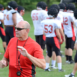 Staff photos by Tom Kelly IV<br /> Head Coach Rick Stroup during Penncrest football practice on Tuesday August 26, 2014.