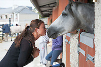 21/09/2014  Sophie James with Fernvile Maghera from Moycullen, Co. Galway at the Connemara Pony Show 2014 in Clifden Co. Galway. Photo:Andrew Downes