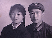 Shanghai, China..A typical drab Cultural Revolution era wedding photo.