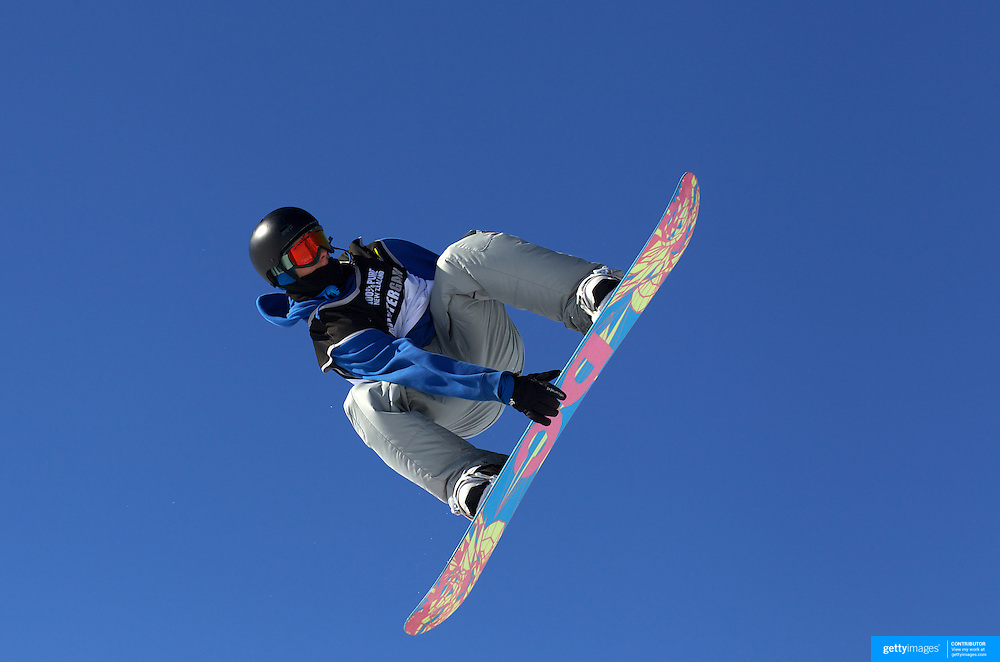 Sam Turnbull, Great Britain, in action during the Men's Snowboard Slopestyle competition at Snow Park, New Zealand during the Winter Games. Wanaka, New Zealand, 21th August 2011. Photo Tim Clayton