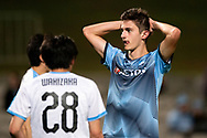 SYDNEY, AUSTRALIA - MAY 21: Sydney FC player Luke Ivanovic (30) puts his hands on his head after missing a shot at goal at AFC Champions League Soccer between Sydney FC and Kawasaki Frontale on May 21, 2019 at Netstrata Jubilee Stadium, NSW. (Photo by Speed Media/Icon Sportswire)