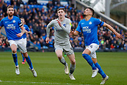 Portsmouth forward Oliver Hawkins (9) in action  during the EFL Sky Bet League 1 match between Peterborough United and Portsmouth at London Road, Peterborough, England on 7 March 2020.