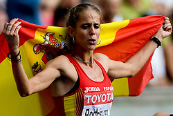 Natalia Rodriguez of Spain won the race but later was disqualified after the women's 1500m Final during the day nine of the 12th IAAF World Athletics Championships at the Olympic Stadium on August 23, 2009 in Berlin, Germany. (Photo by Vid Ponikvar / Sportida)