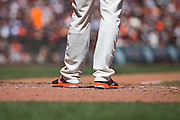 San Francisco Giants starting pitcher Matt Moore (45) stands in the batter's box against the Arizona Diamondbacks at AT&T Park in San Francisco, Calif., on August 31, 2016. (Stan Olszewski/Special to S.F. Examiner)