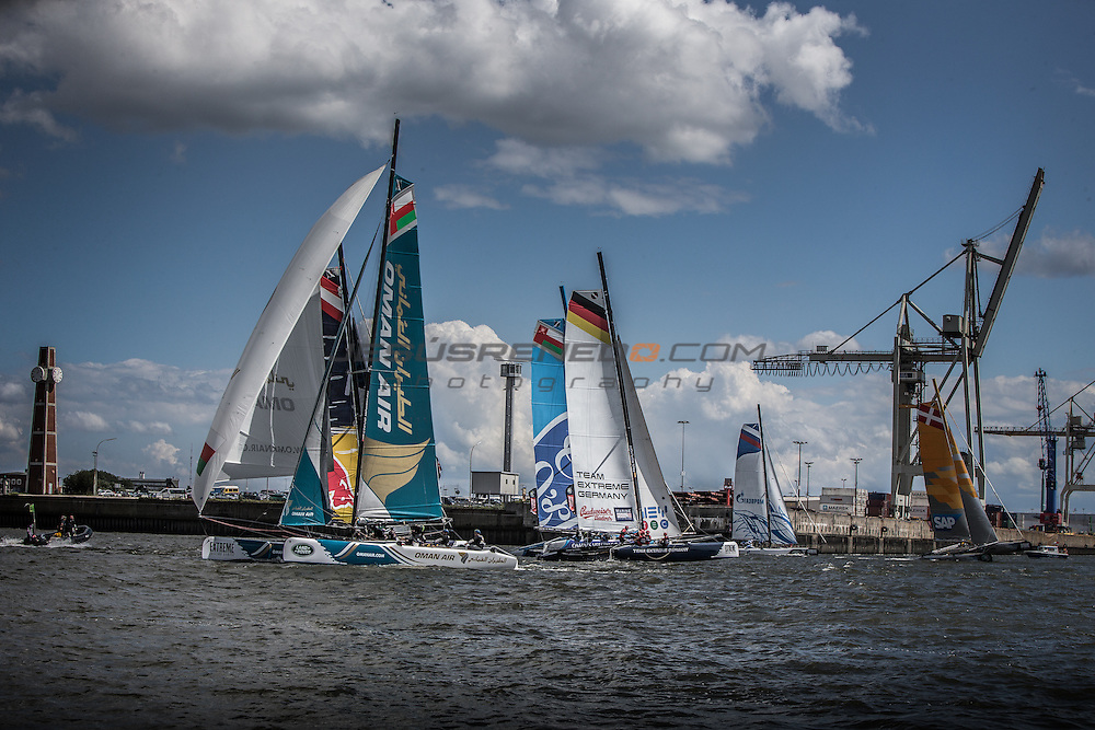 2015 Extreme Sailing Series - Act 5 - Hamburg<br /> ESS Fleet<br /> Credit Jesus Renedo