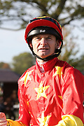 Jockey Robert Havlin during the October Finale Meeting at York Racecourse, York, United Kingdom on 11 October 2019.