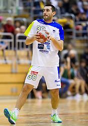 Dragan Gajic of Slovenia during friendly handball match between National Teams of Slovenia and F.Y.R. of Macedonia on December 28, 2013 in Sports hall Polaj, Trbovlje, Slovenia. Photo by Vid Ponikvar / Sportida
