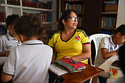 VILLAVICENCIO,COLOMBIA 5 SEPT 2017: Images of the Fundación Llano Amor care center in Villavicencio, Colombia. Fundación Llano Amor cares for youth, and adolesents that suffer from HIV and other related immunodeficieny diseases, providing education, medical assistance and residency.