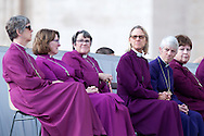 Rome oct 7th 2015, weekly general audience in St Peter's Square. In the picture some american women bishops of episcopal church