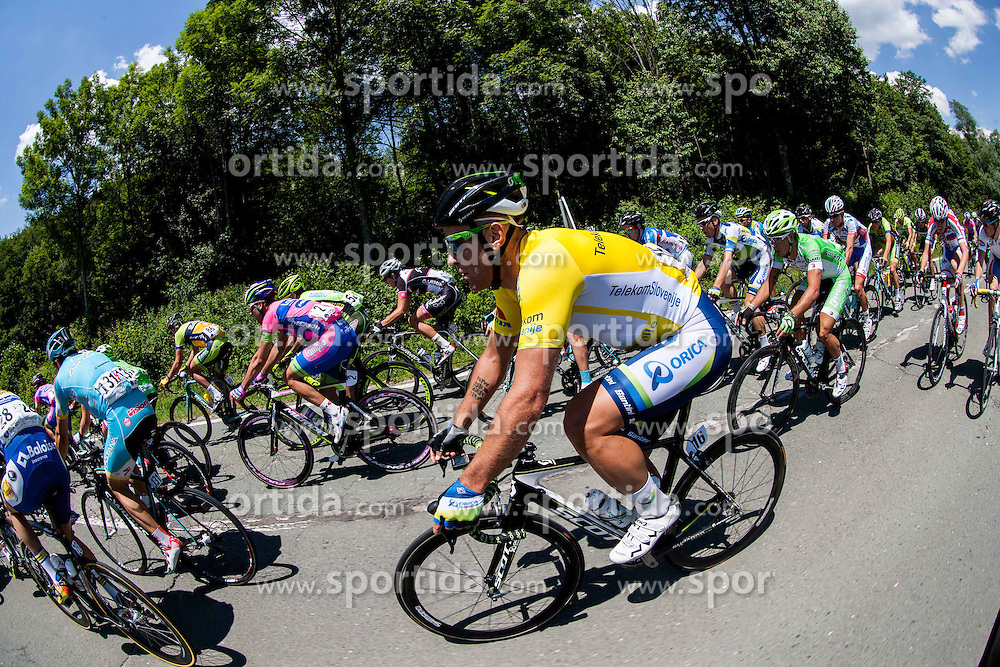 Svein Tuft (CAN) of Orica-Green Edge during Stage 2 from Kocevje to Visnja Gora (168,5 km) of cycling race 20th Tour de Slovenie 2013,  on June 14, 2013 in Slovenia. (Photo By Vid Ponikvar / Sportida)