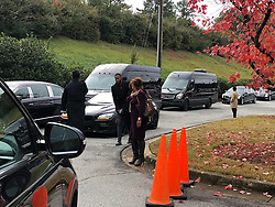 EXCLUSIVE: ** NO USA TV AND NO USA WEB **TMZ's obtained a photo from inside the funeral, before Diddy arrived. Kim's golden casket's front and center topped with a bouquet of beautiful flowers, along with a black and white photo of her. We're told a band and church choir are providing music.Several speakers delivered eulogies for Kim during the service, including Mary J. Blige, Dallas Austin, Bishop Noel Jones, her son Quincy Brown and Diddy. We're told Quincy's dad, Al B. Sure!, joined him and Diddy on stage when Quincy broke down while speaking. 24 Nov 2018 Pictured: Kim Porter funeral. Photo credit: TMZ/MEGA TheMegaAgency.com +1 888 505 6342