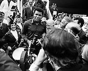 Muhammad Ali arrives at Dublin Airport<br /> <br /> 11/07/1972<br /> <br /> 11th July 1972