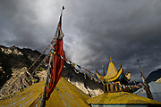 A monastery in Nesang Village, which rests above 10,000 feet in the Himalayas of Himachal Pradesh, India.