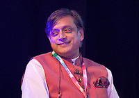 Indian politician Dr. Shashi Tharoor discussing 'Free Speech and Cultural Appropriation' at the Dalkey Book Festival, Dalkey, County Dublin, Ireland, Sunday 18th June 2017. Photo credit: Doreen Kennedy