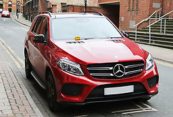 A £60 parking ticket on the windscreen of Juan Mata's car as he attends Ander Herrera's birthday lunch at Tapeo and Wine Restaurant in Manchester
